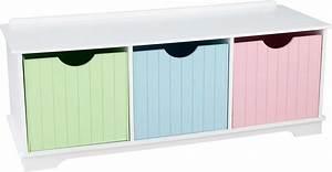 Tiroir De Rangement Bois : banc de rangement en bois avec tiroirs pastels ~ Melissatoandfro.com Idées de Décoration
