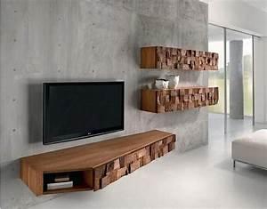 1000 ideas about meuble tv en bois on pinterest tv With meuble tv suspendu