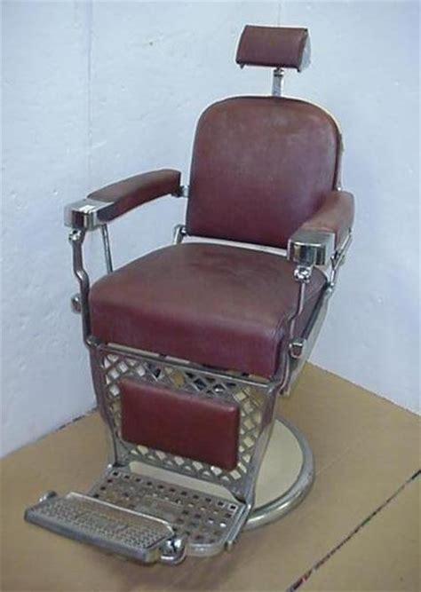 Emil J Paidar Barber Chair Headrest by Page Not Found Live Auctioneers