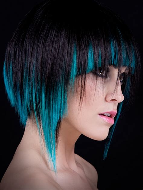 Black Hair Coloring by Colored Hair Highlights Ideas