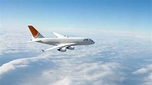 Plane Flying Above Clouds, Commercial Airplane In Flight ...