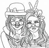Coloring Pages Friend Friends Forever Getdrawings sketch template