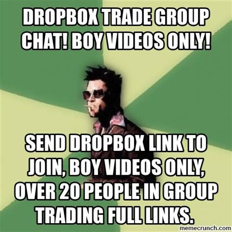Group Photo Meme - dropbox trade group chat boy videos only