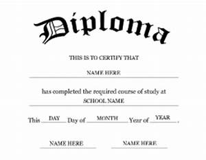 free fake high school diploma templates - 7 best images of printable degree templates college