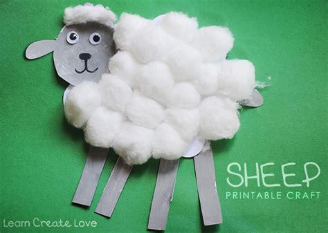 sheep crafts for preschool printable sheep craft 276