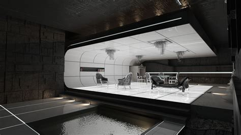 Futuristic Interior Design by Interior 3d Project Inspirations Futuristic