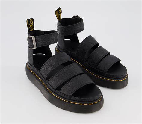 dr martens clarissa  quad sandals black sandals