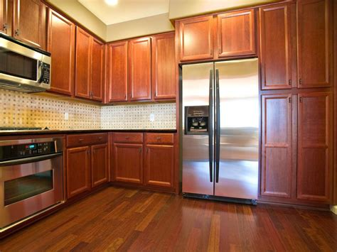 I used a forest theme for my decorating items. Oak Kitchen Cabinets: Pictures, Ideas & Tips From HGTV | HGTV