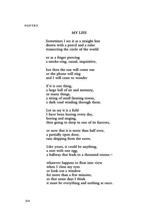My Life By Billy Collins  Poetry Magazine