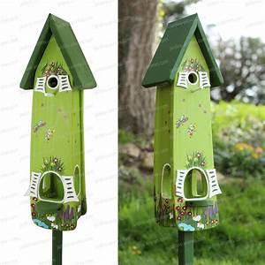 Plan Nichoir Oiseaux : nichoir et mangeoire jardin magique vert nichoirs pour oiseaux ~ Melissatoandfro.com Idées de Décoration