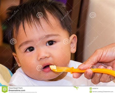Feeding The Baby Royalty Free Stock Photos Image 26286218
