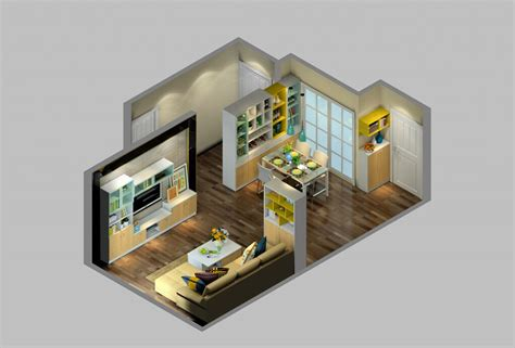 Home Interior 3d View : 3d View Of House Interior Design