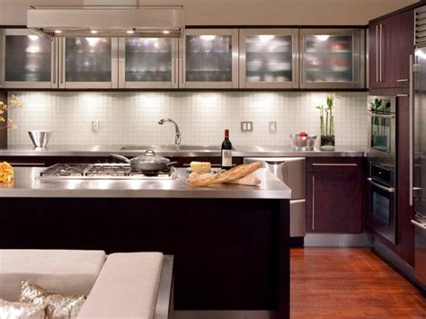 glass kitchen cabinet doors  modern appearance home