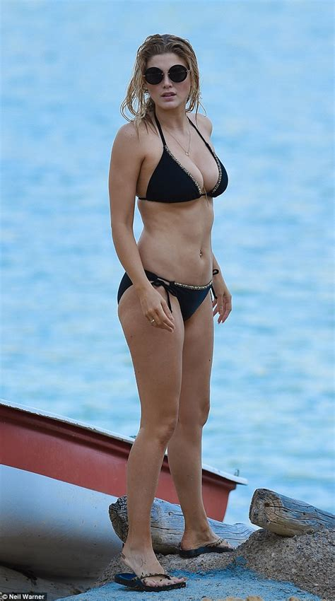 ashley williams swimsuit david walliams rumoured love interest ashley james shows