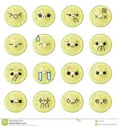 Cute Cartoon Lemons with Faces