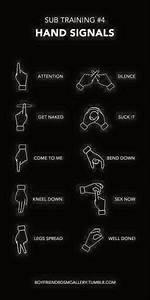Sub training hand signals   Submissive   Pinterest ...