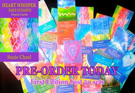 the whisper oracle cards are here pre order now cheel the whisperer