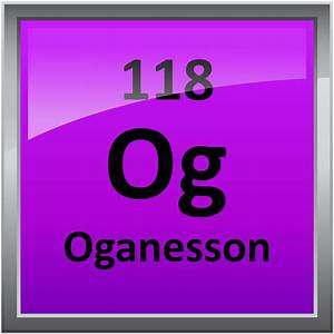 Periodic Table Printable 118 Oganesson Science Notes And Projects