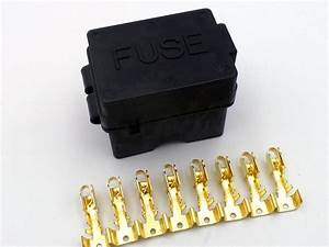 4 Way Motorcycle Bottom Entry Blade Fuse Box With Brass