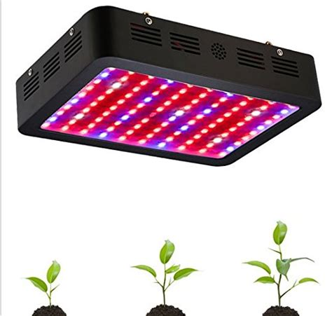 black led grow light gowe 1000w black double chips led grow light 410 730nm
