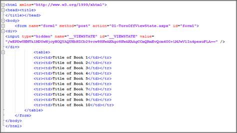 craig shoemaker controlling html in asp net webforms