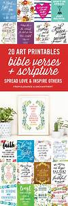 20 Bible Verse and Scripture Art Printables - Elegance