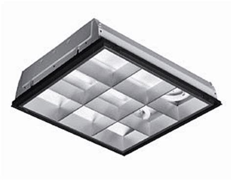 parabolic 2x2 grid light fixture operating four f17t8