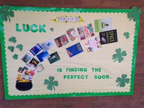 March St. Patrick's Day Library Bulletin Board