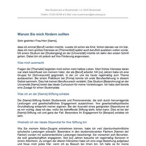 motivationsschreiben stipendium studium bewerbungco