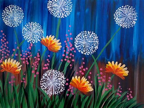 dandelion fields pinot s palette painting