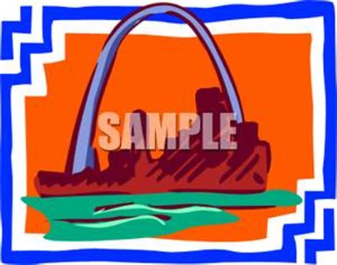 Cost Of Missouri Boating License by St Louis Arch In Missouri Royalty Free Clipart Picture