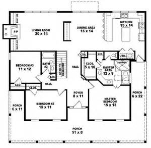 3 bedroom house plans one story 654173 one story 3 bedroom 2 bath country style house