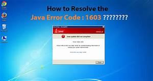 How, To, Resolve, Java, Error, Code, 1603