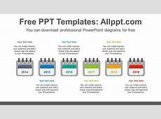 6 calendars PowerPoint Diagram Template