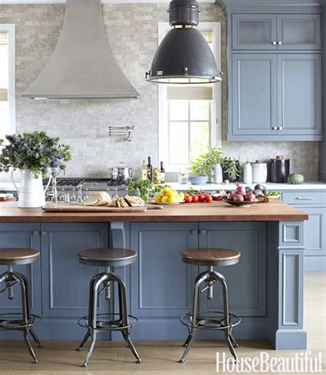 Blue Grey Kitchen Cabinets