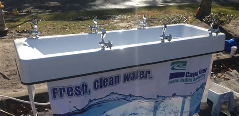 utility rolls out portable water fountain for area events