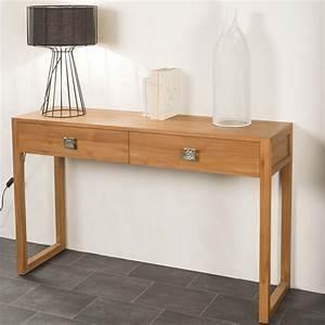 Console En Bois : console de salon en bois de teck massif th a rectangle naturel l 130 cm ~ Teatrodelosmanantiales.com Idées de Décoration