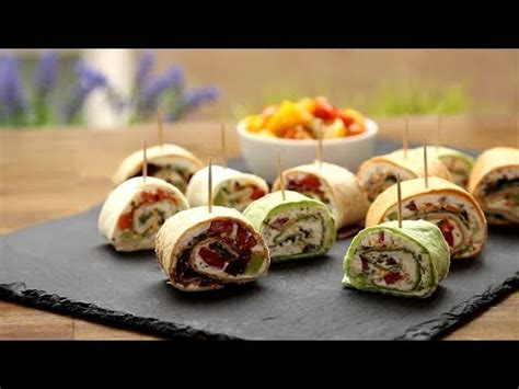 vegetarian canapes easy appetizer recipes how to pinwheels