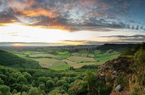Sutton Bank and blue sky stock image. Image of scene, rock ...