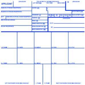 FD-258 Fingerprint Card