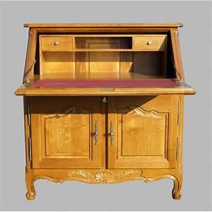 secretaire dos d39ane regence chene meubles de normandie With un secr taire meuble