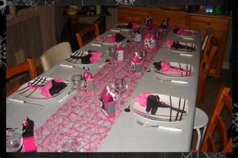 Deco Anniversaire Rose Et Noir, Decoration...