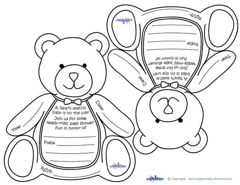 make your own wedding registry free printable teddy baby shower invitations