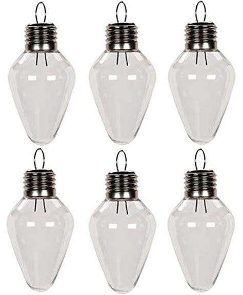 creative hobbies clear plastic bulb shape ornaments 100mm