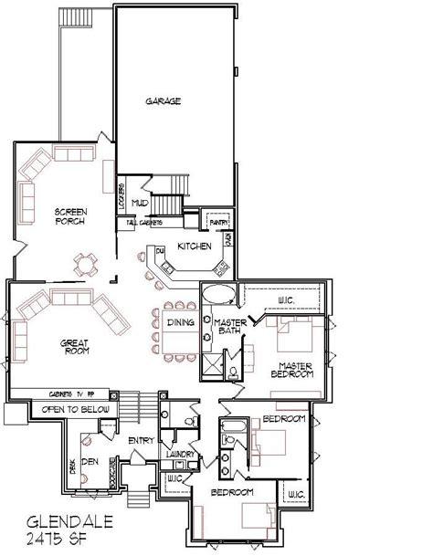 narrow lot floor plans large 6 bedroom bungalow 10000 sf one storey dream house plans designs