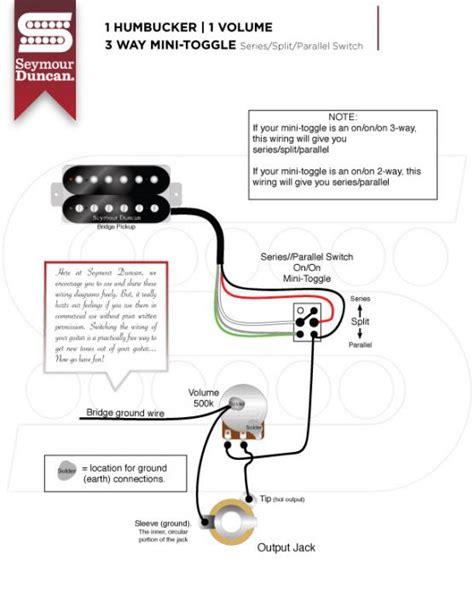Humbucker Volume Tone Way Toggle Switch