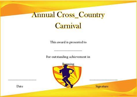 running certificate templates 20 free editable word - Cross Country Certificate Templates Free
