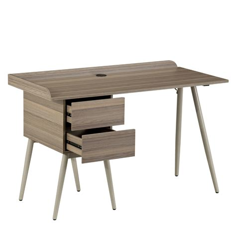 techni mobili modern space saver desk with drawers