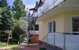 treppe 01 metallbau heiner dressrusse gmbhmetallbau With französischer balkon mit garten wendeltreppe