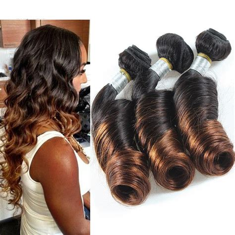 Spiral irons are also perfect for creating beachy waves. 6A Peruvian Spiral Curl Weave Human Hair Ombre Peruvian ...